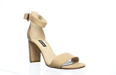 Nine West Womens Nora Barely Nude Ankle Strap Heels Size 8 (778065)