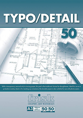 Frisk Typo Detail Paper Pad A3 50gsm