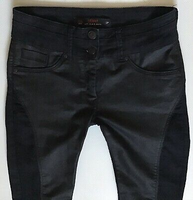 Ladies Next Petite Lift Slim & Shape Black Skinny Jeans Size 10 P W28 L28 (381)