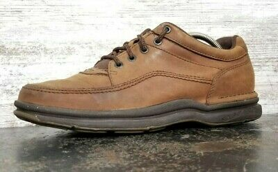 Men/'s Rockport World Tour Classic in Brown Tumble Save 45/% Off MSRP