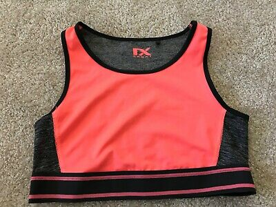 NEXT Girls Orange Sports Crop Top (9-10 Years) *BNWOT*