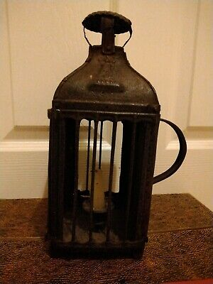 Antique French Early 19th Century Tin Candle Lantern Chimney Original Condition