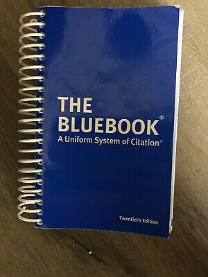 The Bluebook A Uniform System of Citation Twentieth Edition