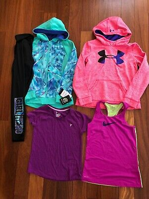 Girl Size 10 12 Athletic Yoga Clothes Top UNDER ARMOUR Hoodie Sweatshirt Legging