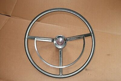 1962 Galaxie 500XL Steering Wheel & Horn Ring Assy Rat Hot Rod Ford Monterey