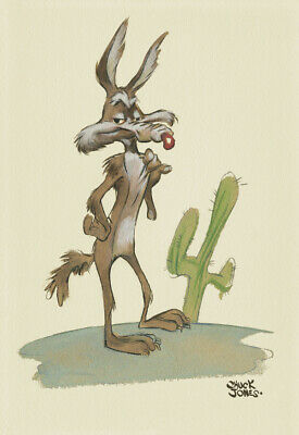Chuck Jones Wile E Coyote Giclee Print Warner Bros Limited Edition of 75