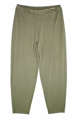 Eileen Fisher Womens Pants Green Size Small S Jersey Knit Stretch $168- 347