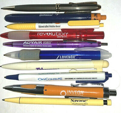 Collectibles,Pens,9,Pharma,Ad,Promo,Drug Rep,Fancy, Mixed Lot,Flashlight