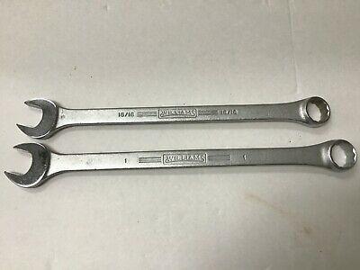 """Williams No. 1168 and 1170 Superrench 1"""" and 15/16"""" Combination Wrenches"""