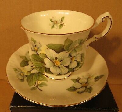 Paragon Dogwood Canadian Provincial Flowers Teacup & Saucer/ Made in England