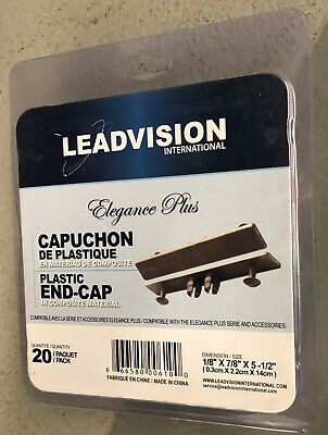 20 Pc Decking Elegance Plus Leadvision Plastic End Caps Gray Composite Wood New