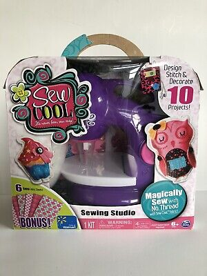 Sew Cool Sewing Machine Kids Threadless Sewing Studio with 10 Projects