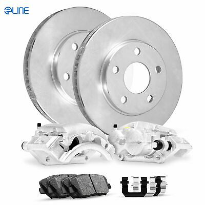 2006 2007-2011 DTS Buick Lucerne Front DRILLED Slotted Brake Rotors+Ceramic Pads