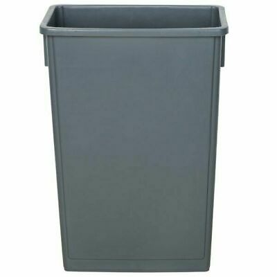 Trash Can  Heavy-Duty Gray Plastic Slim Commercial Restaurant Kitchen 23 Gallon