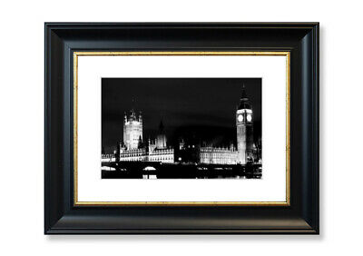 London Houses Of Parliament Dark Nights  Architecture Prints 01067 Framed Print