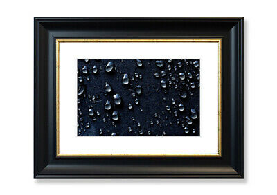 Water Drops Dark Background  Abstract Prints 00690 Framed Print
