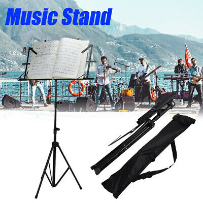 Adjustable Sheet Metal Folding Sheet Music Stand Holder Foldable With Carry Bag