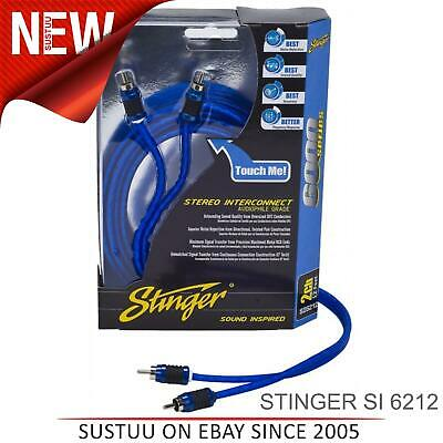 Stinger 12FT/3.7M 2-Channel Blindé Directionnel Rca Interconnexion Câble