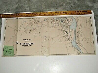City Of Fitchburg, Ma., 1870 Map, 34X15 Inches, From The Beer's 1870 Atlas