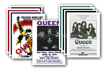 QUEEN & FREDDIE MERCURY - promotional posters - collection of 10 postcards # 2