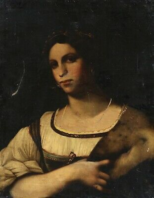18th CENTURY ITALIAN OLD MASTER OIL ON CANVAS - PORTRAIT OF A SYBIL - TO RESTORE