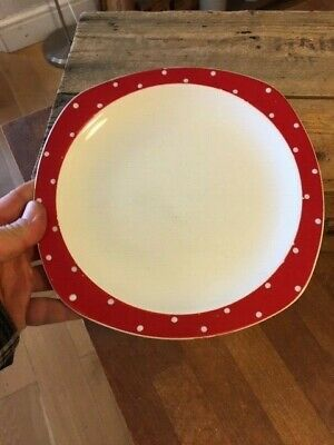 Vintage Midwinter Red Domino – Spotty Medium Sized Plate – Retro! –