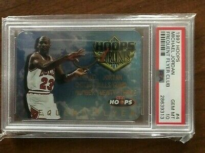 PSA 10 Michael Jordan 1997 Hoops Frequent Flyer Club #4 Die Cut MJ Chicago Bulls