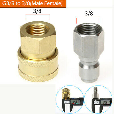 """Pressure Washer Quick Release Coupling Male 3/8"""" Female Probe Connector"""