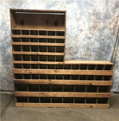 Cubby Hole Sorter Organizer Cabinet, Hardware Parts Display, Pigeonhole Shelving