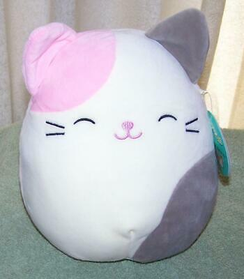 """HUGE Squishmallow Karina the Pink WOW! Gray Cat 24/"""" 24 Inch New With Tags"""