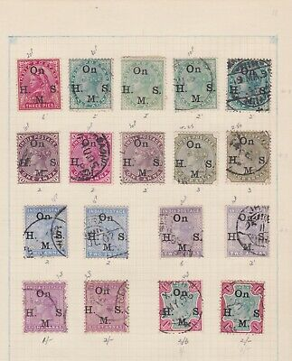 INDIA STAMPS EARLY ISSUES FINE USED ON PAGE SELECTION No 1