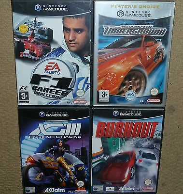 JOB LOT 4 x NINTENDO GAMECUBE GAMES F1 Need Speed Underground Extreme G Burnout