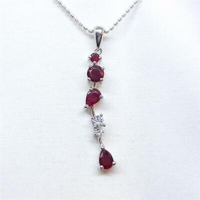Natural Ruby Zosite Handmade Unique 925 Sterling Silver Pendant 1.75 A1634