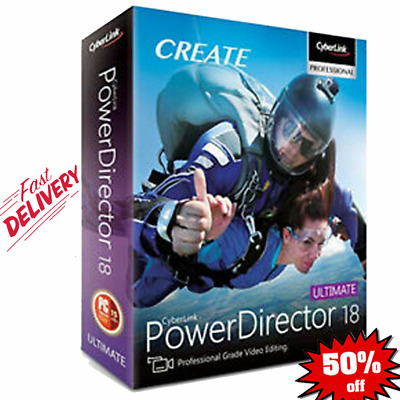 CyberLink PowerDirector Ultimate 18 🔥 Lifetime License 🔥 [INSTNT DELIVERY]🔥🔥