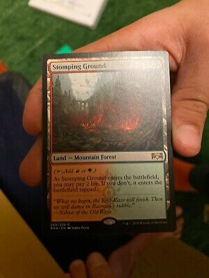 English x1 1x Stomping Ground Ravnica Allegiance Magic mtg NM-Mint
