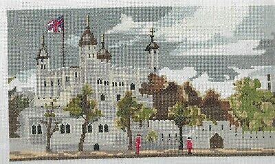 Tapestry.(Petit Point??)..Already Worked...tower Of London...ready To Frame.