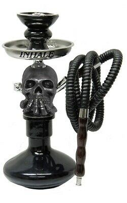12Inch High Patented Inhale Skull Hookah With Interlock System