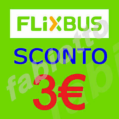 Flixbus 2X3 euro voucher/coupon. Expires 30/04/20