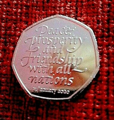 2020 UK BREXIT 50p piece FIFTY PENCE UNCIRCULATED COIN - OFFICIAL UK ISSUE
