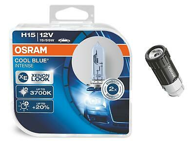 H15 12 volt Cool Blue Intense Xenon-Effekt 2St OSRAM + LEDInspect Flashlight 15
