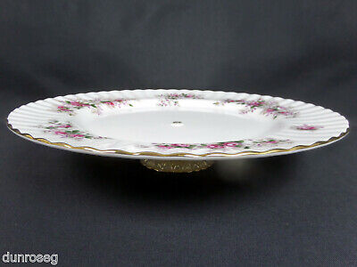 """LAVENDER ROSE 26cm 10"""" CAKE STAND / LOW COMPORT, MADE IN ENGLAND, ROYAL ALBERT"""