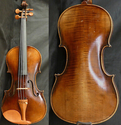 Fine 4/4 Antique Violin lab: Bonora GIUSEPPE 19th Flamed Maple Fiddle 小提琴 ヴァイオリン