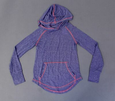 Rockets of Awesome Girl's Long Sleeve Sporty Hoodie Tee TM8 Purple Size 8 NWT