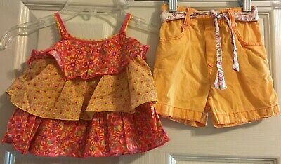 Catimini Outfit Short Set Top And Shorts Size 81 or 18 Months