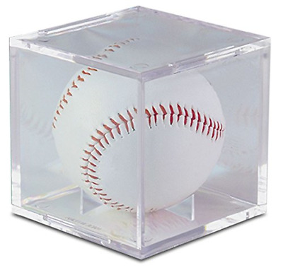 ULTRA PRO UV Protected BASEBALL HOLDER w/ STAND Ball Display Case Acrylic Cube