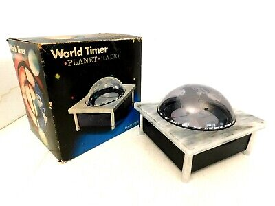 VINTAGE 60s OLD NIB SPACE AGE GEM MINT WORLD MAP MARBLE TYPE TRANSISTOR RADIO