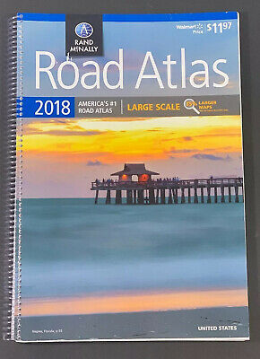 Rand McNally 2018 Road Atlas America's #1 Easy Finder 35% Larger Maps US