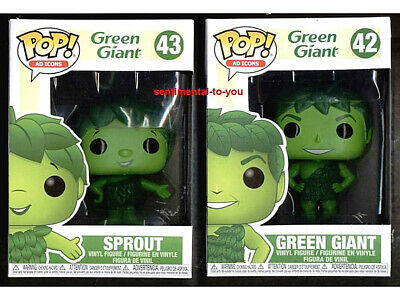 Funko POP Food TV Ad Icons 42 GREEN GIANT 43 SPROUT 2-Figure Complete Lot Set
