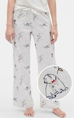 NWT GAP Womens LOVE GapBody Flannel Pajama Lounge Pants All-Over Wild Animal *5Q