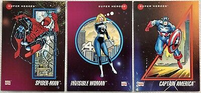 Marvel Universe Series 3 Prototype Promo Set Of 3 Cards - Impel 1992